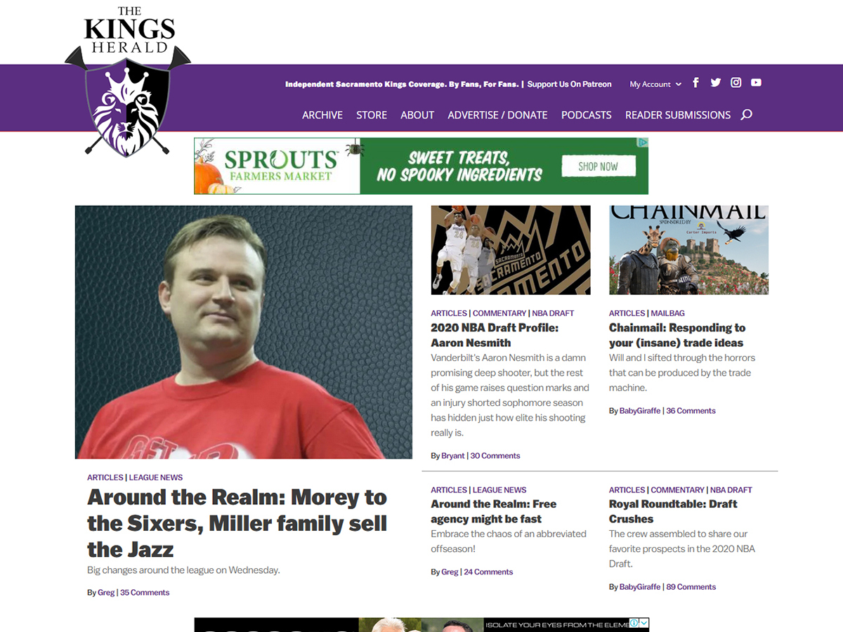Welcome to the new Kings Herald layout!